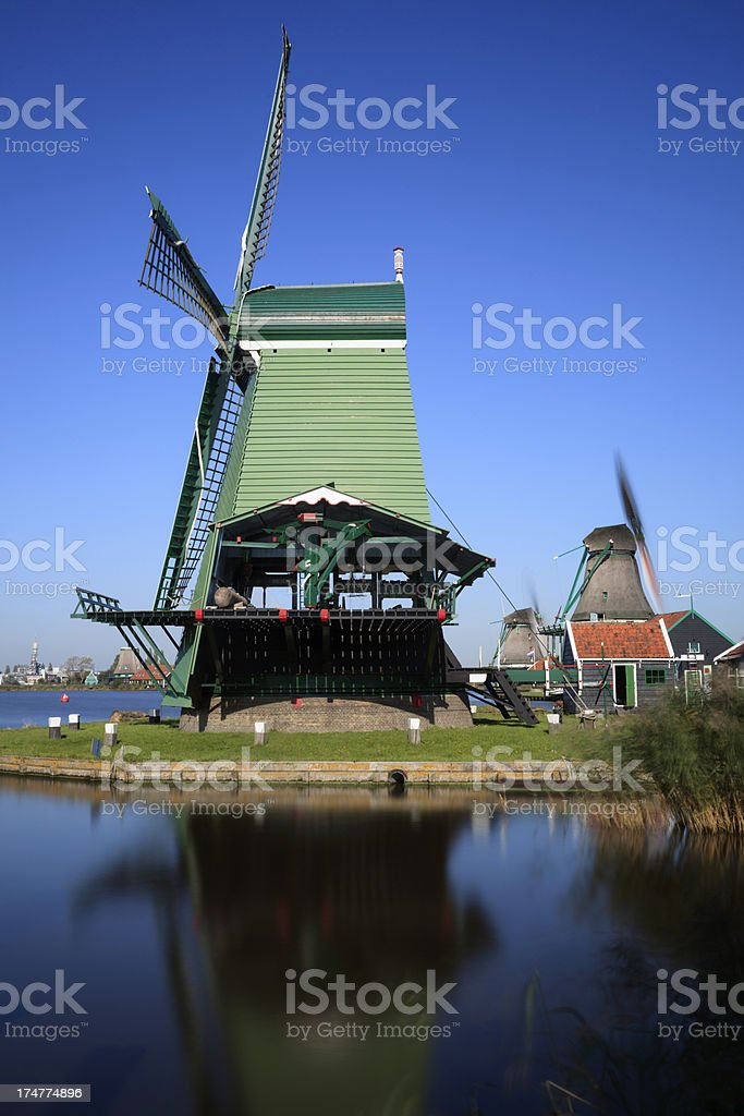 paltrok mill De Gekroonde Poelenburg on the Kalverringdijk at Za royalty-free stock photo