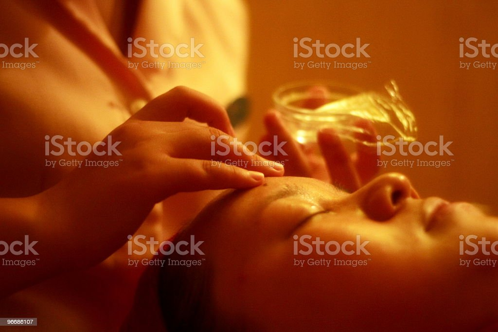 pampering at the cosmetician (series) royalty-free stock photo