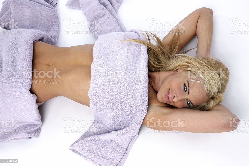 Pampering body care royalty-free stock photo