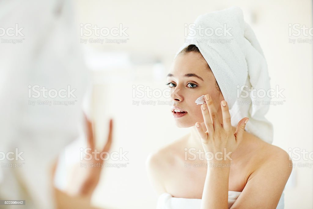 Pampering cream stock photo