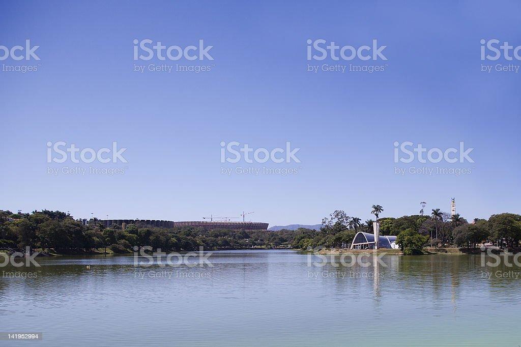 Pampulha lake stock photo