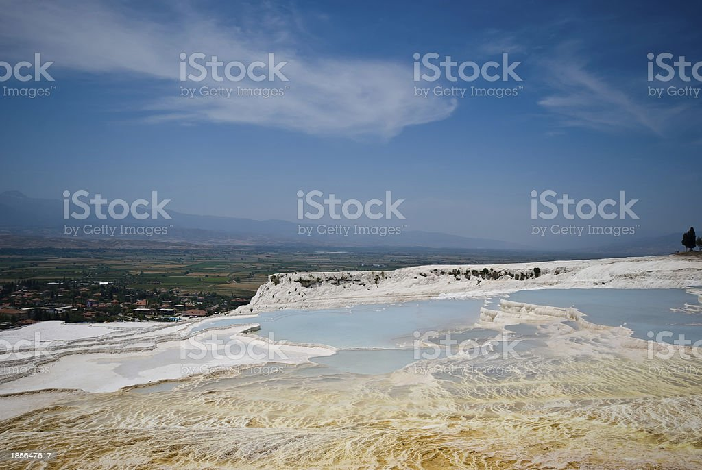 Pamukale, the natural park in Turkey royalty-free stock photo