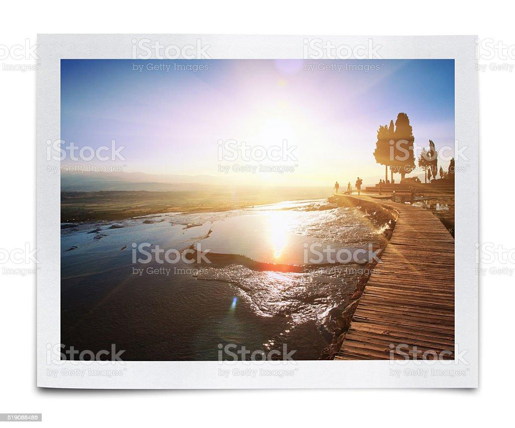 Pamukkale - Cotton Castle Photo (Clipping Path) stock photo