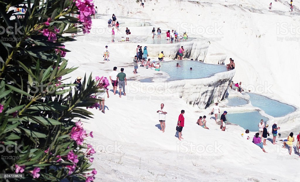 Pamukkale, Denizli, Turkey stock photo