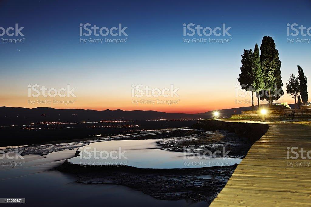 Pamukkale Night - Hierapolis royalty-free stock photo