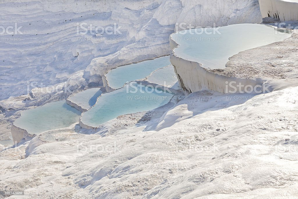 Pamukkale pools stock photo