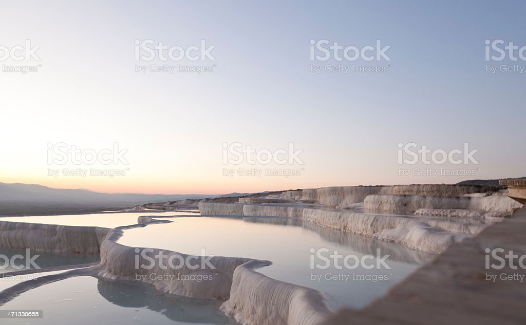 Pamukkale sunset stock photo