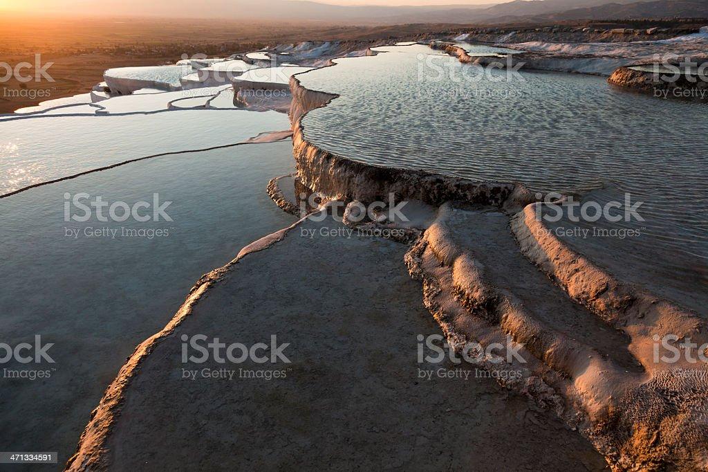 Pamukkale sunset royalty-free stock photo