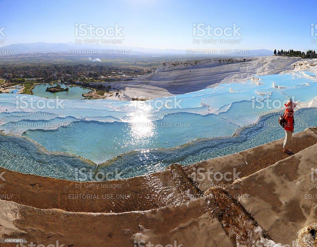Pamukkale-Hierapolis - Panoramic royalty-free stock photo