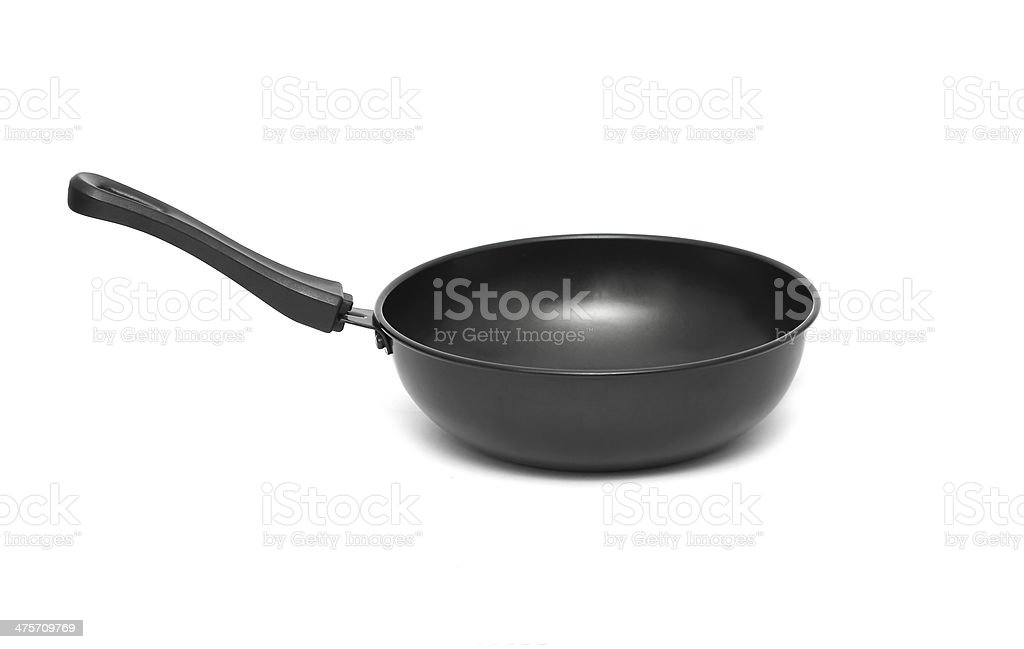 pan black frying isolated on white background royalty-free stock photo