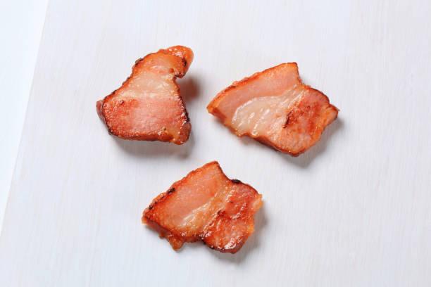 pan jamón frito - tocino fotografías e imágenes de stock