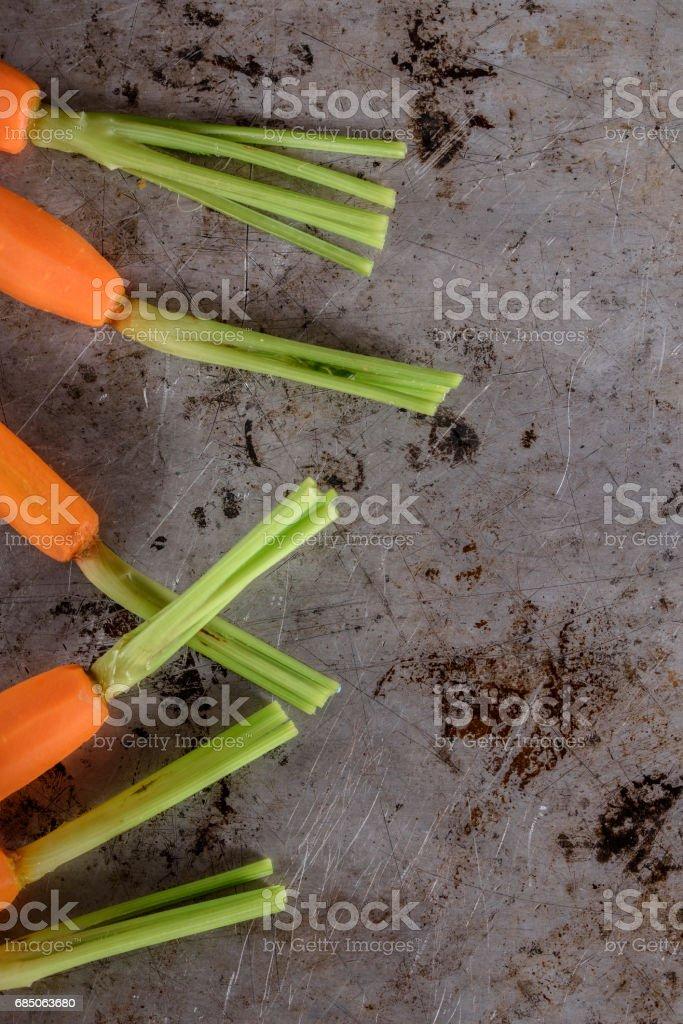 Pan Fried Carrots royalty-free stock photo