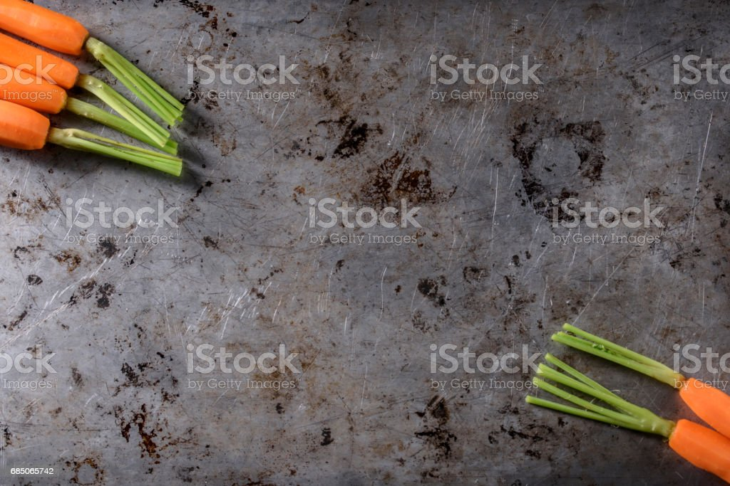 Pan Fried Carrots royalty-free stock photo