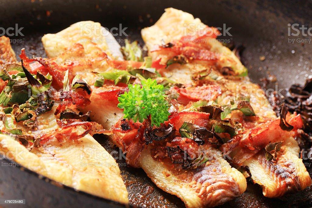 Filés de peixe fritos - foto de acervo