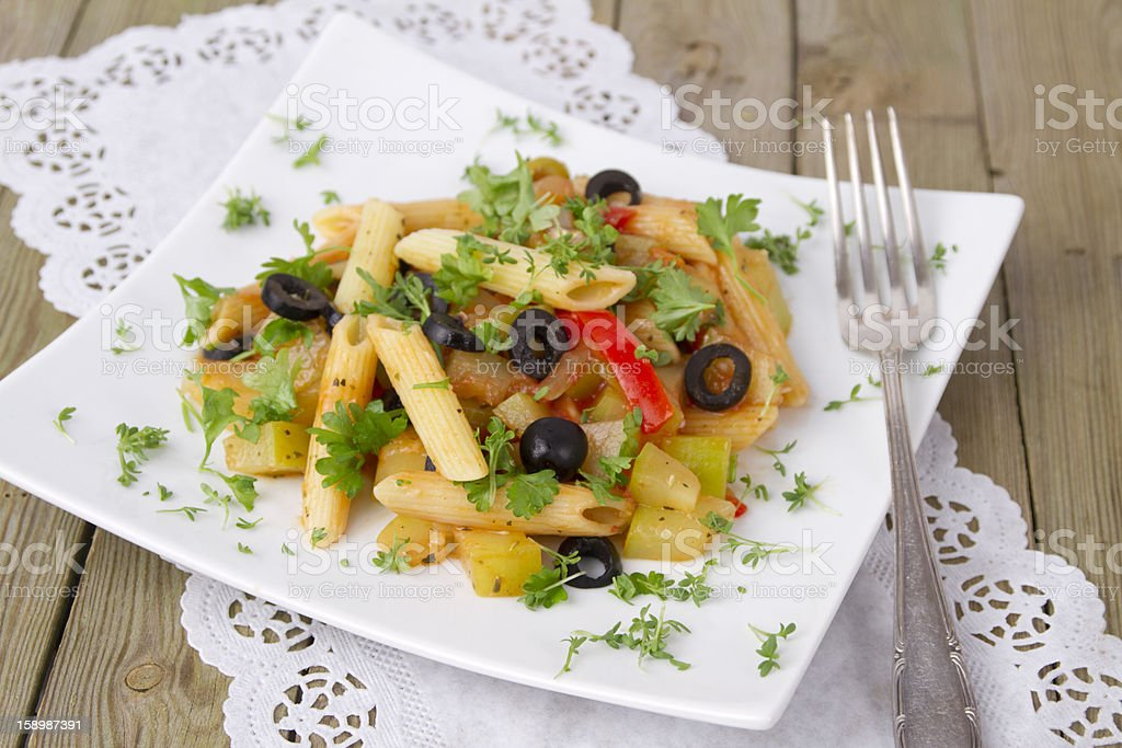 pan fried noodles royalty-free stock photo