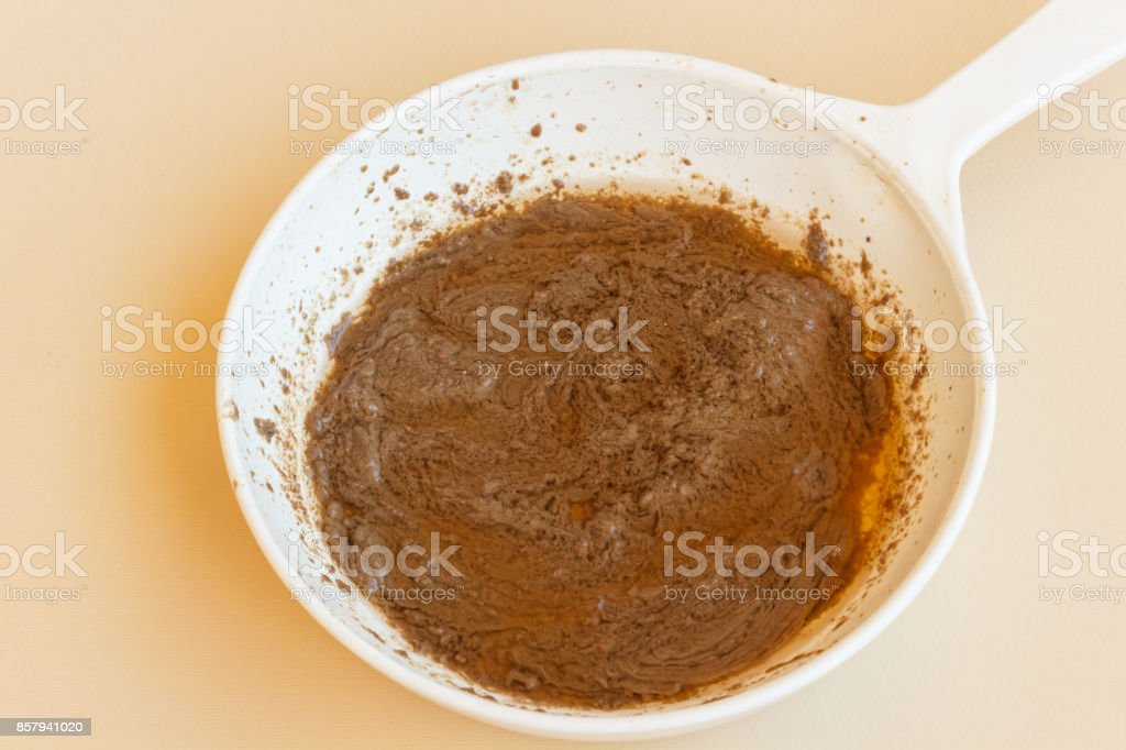 pan of bagna cauda stock photo