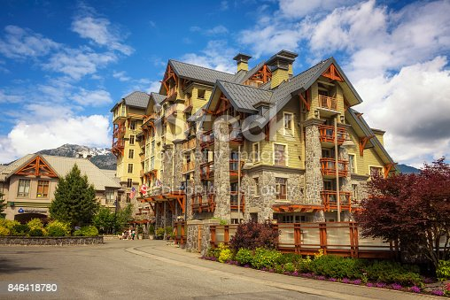 istock Pan Pacific hotel in Whistler Village, Canada 846418780