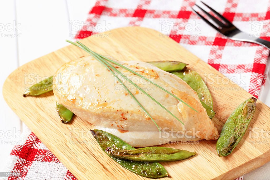 Pan seared chicken breast royalty-free stock photo