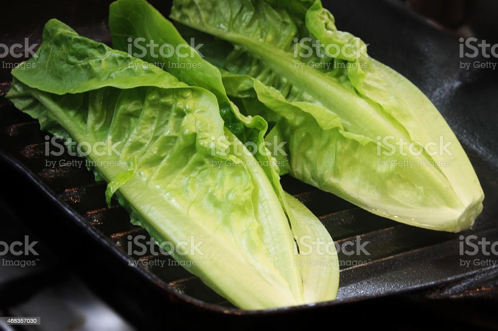 pan seared lettuce royalty-free stock photo