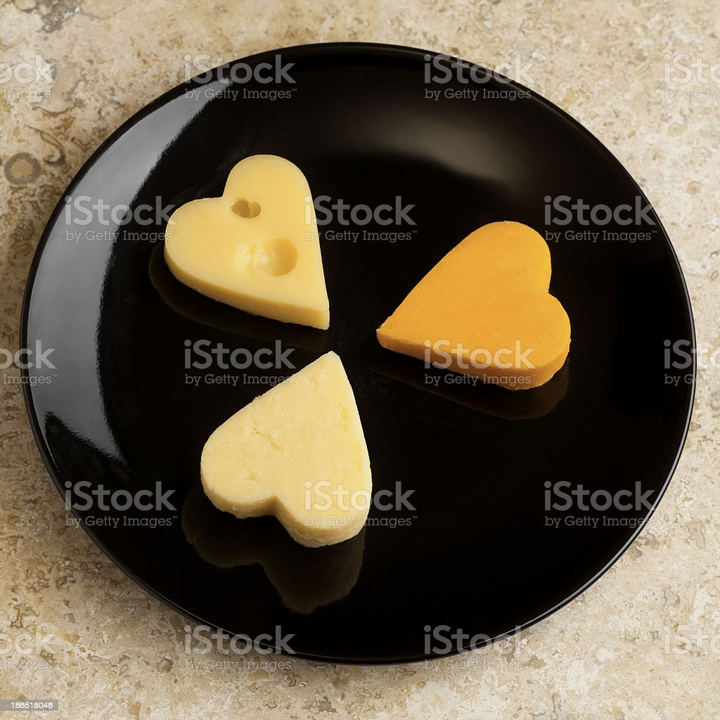 pan with edam cheese royalty-free stock photo