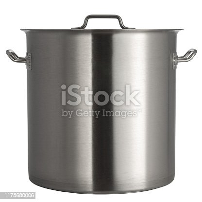 istock pan with stainless steel lid on a white background 1175680006