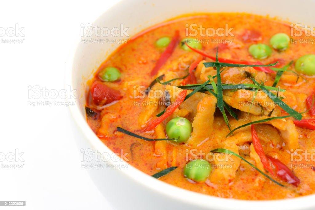 Panaeng curry with pork stock photo