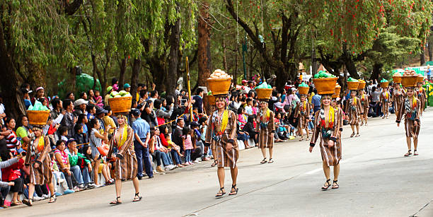 panagbenga festival - baguio city stock photos and pictures