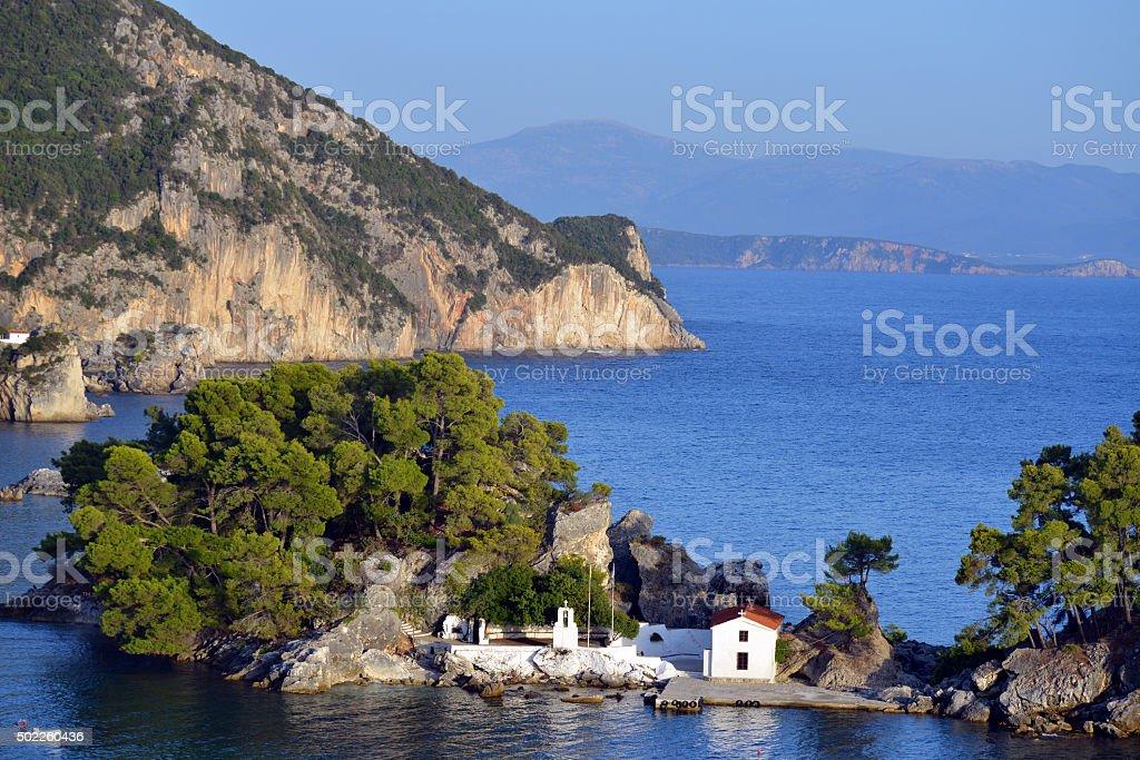 Panagia chapel, Parga, Greece stock photo