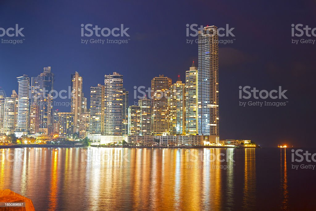 Panama at Night stock photo