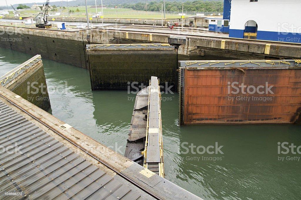 Panama Canal, Gatun Locks royalty-free stock photo
