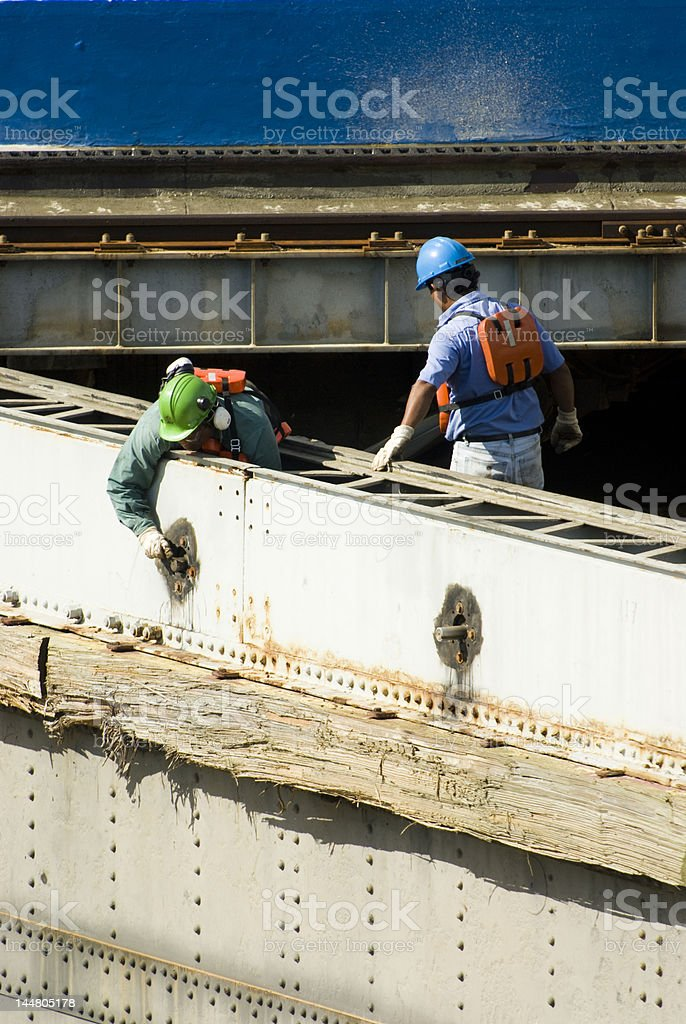 Panama Canal Maintenance royalty-free stock photo