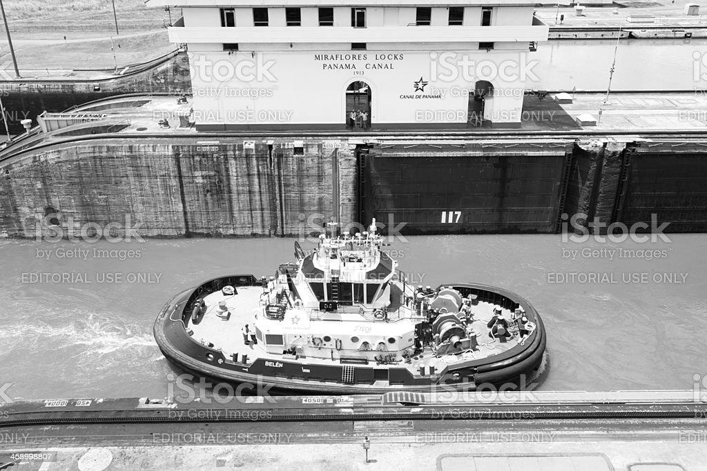 Panama Canal Miraflores Lock royalty-free stock photo