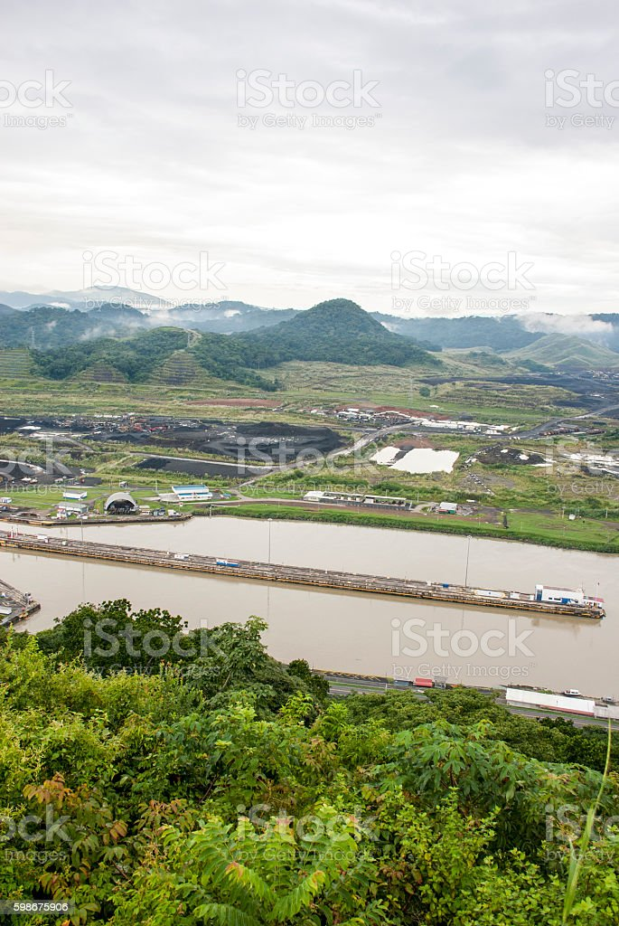 Panama Canal - Pedro Miguel Lock stock photo