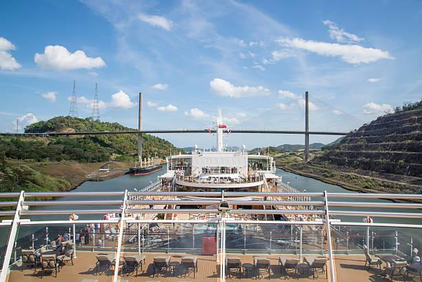 Panama canal stock photo