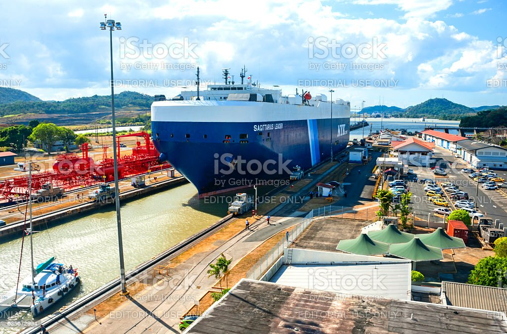 Panama Canal stock photo
