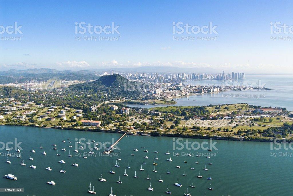 Panama City - Aerial View stock photo