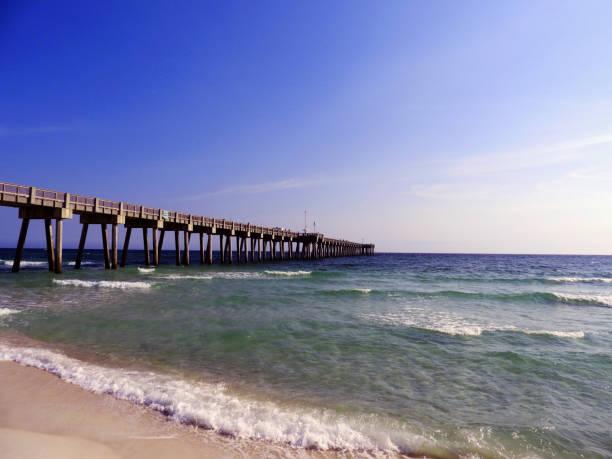 Panama City Beach Pier stock photo
