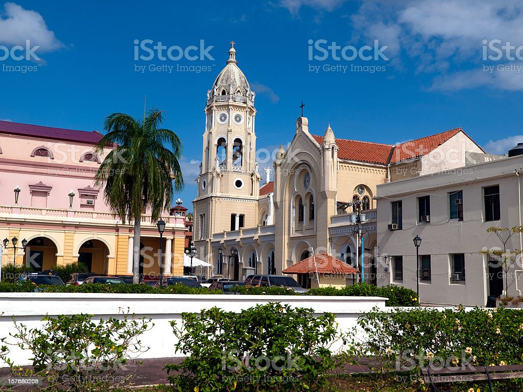 Panama City - Casco Viejo District stock photo