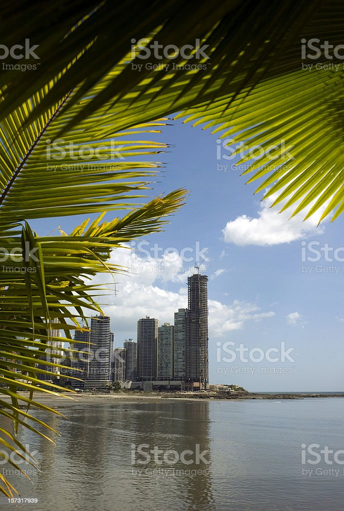 Panama City Condos royalty-free stock photo