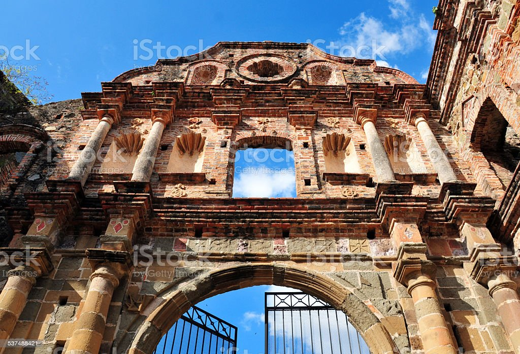 Panama city  - Jesuit Convent stock photo