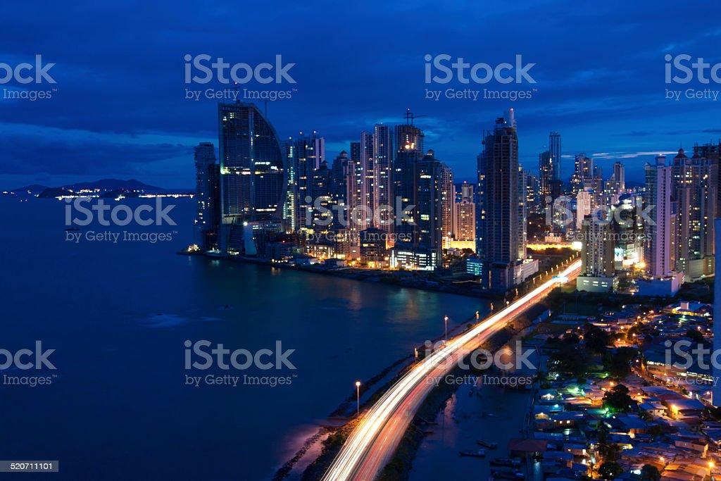Panama City Nights stock photo
