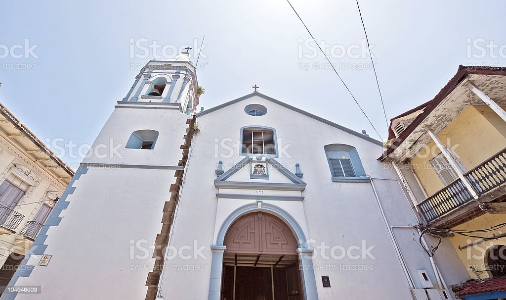 Panama city old church royalty-free stock photo