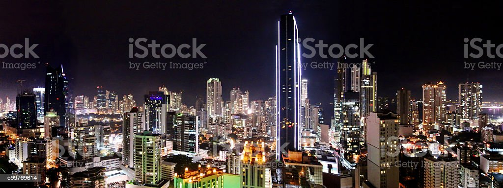 Panama City, Panama skyline stock photo