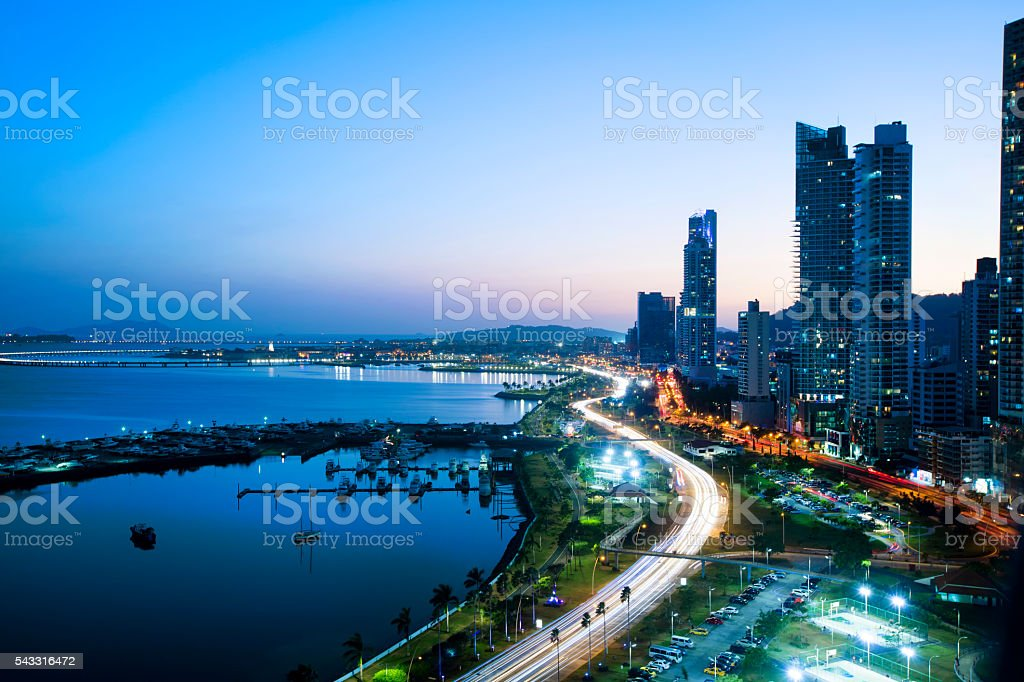 Panama city stock photo