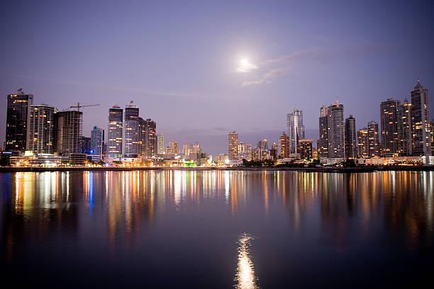 Panama City Reflections stock photo