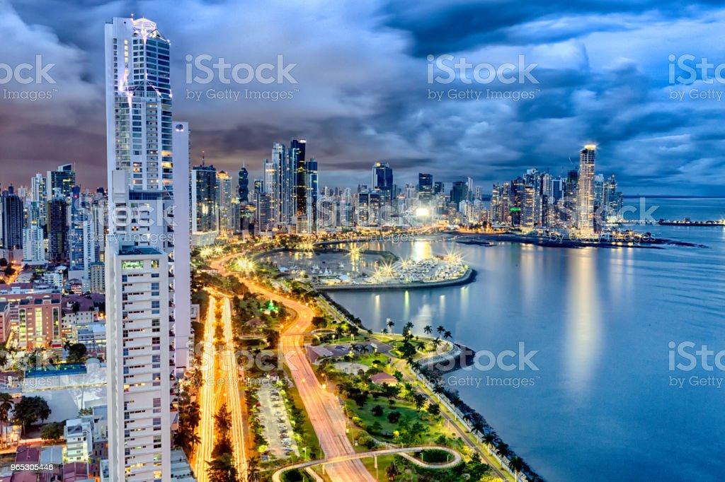 Panama City Skyline zbiór zdjęć royalty-free