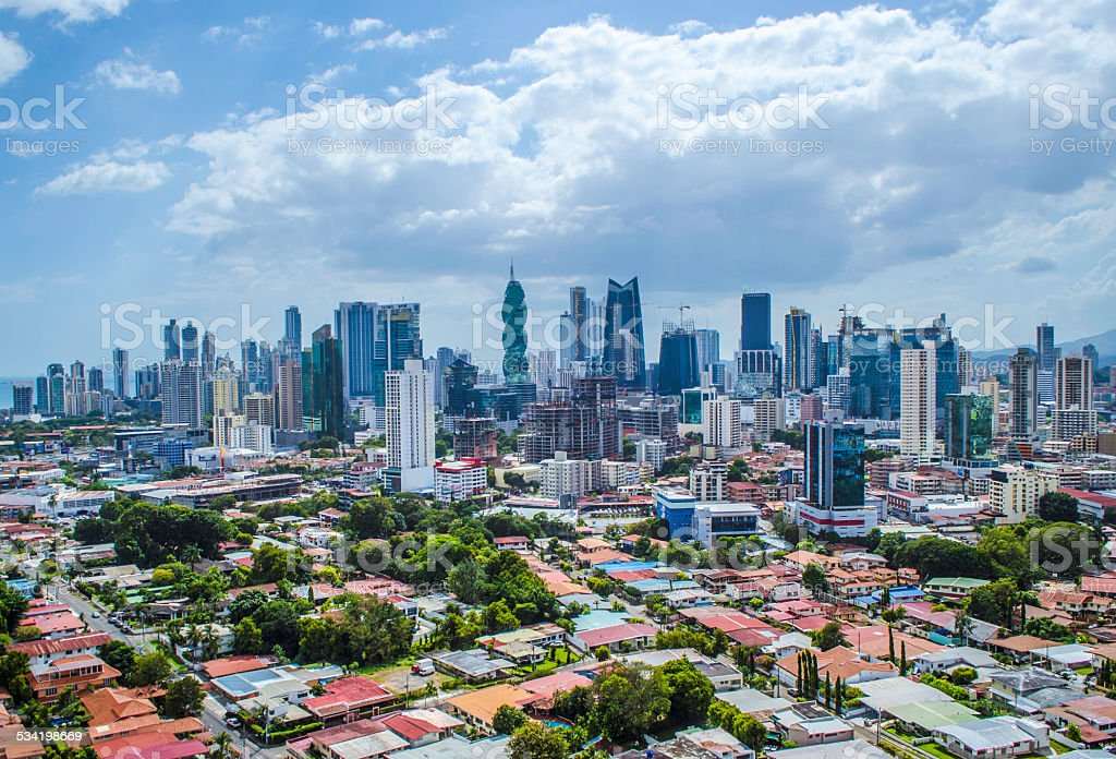 Panama City Skyscrapers stock photo