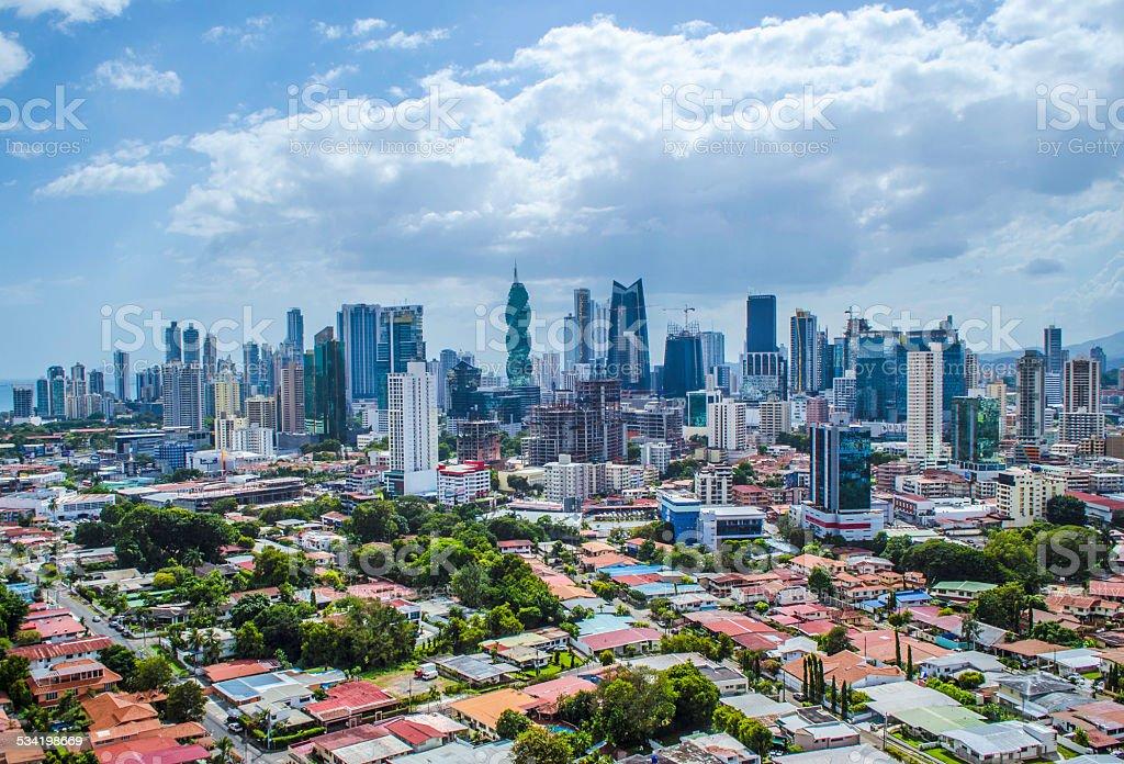 Panama City Skyscrapers stock photo