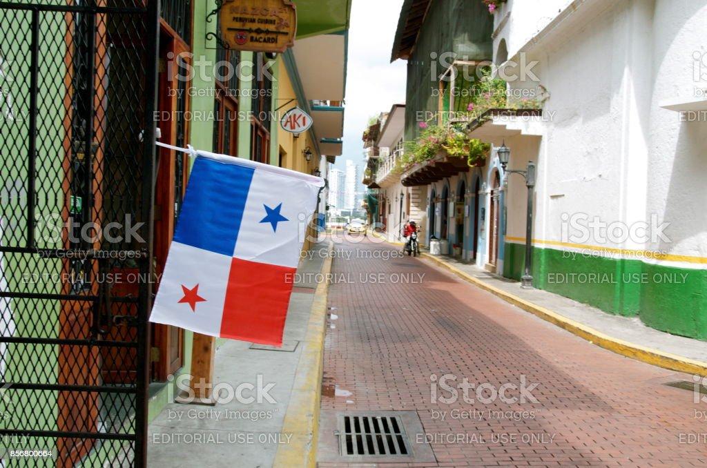Rua, cidade do Panamá - foto de acervo