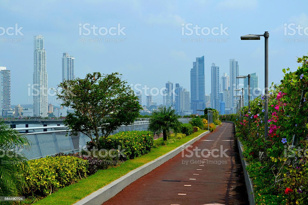 Panama City to natural, background, architecture, nature stock photo